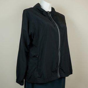 Fabletics Jackets & Coats - Fabletics Camilla Jacket Black Windbreaker Hooded